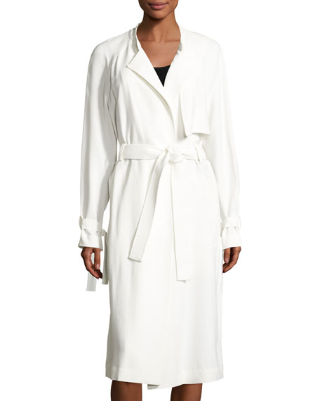 A.L.C. Augusto Belted Trenchcoat, Eggshell