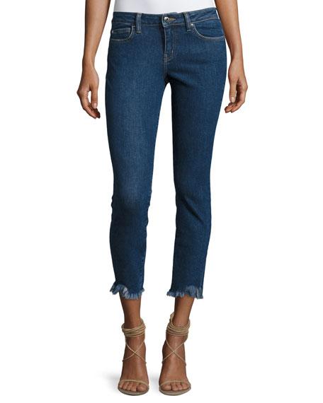 Iro Jarod Cropped Mid-Rise Skinny Jeans, Blue