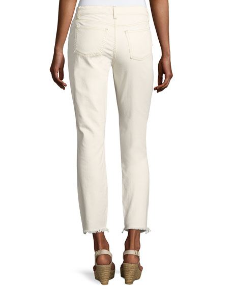 Organic Stretch-Cotton Slim Ankle Jeans, Undyed Natural
