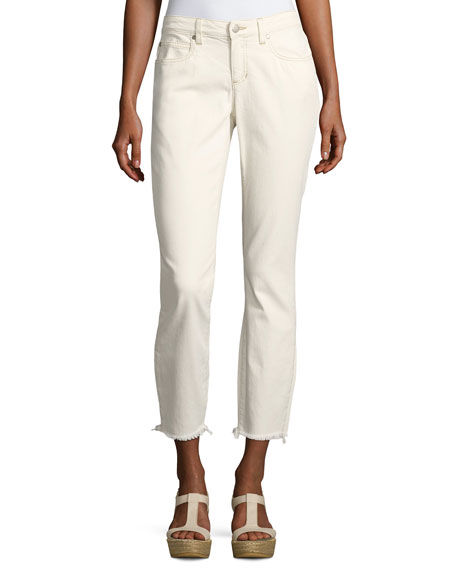 Eileen Fisher Organic Stretch-Cotton Slim Ankle Jeans, Undyed