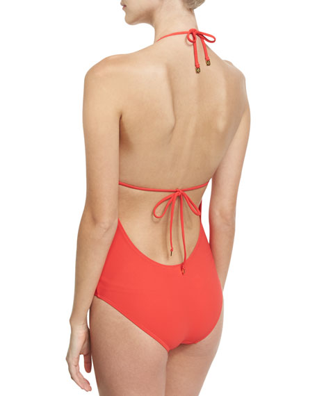 Gemini Link One-Piece Swimsuit, Red