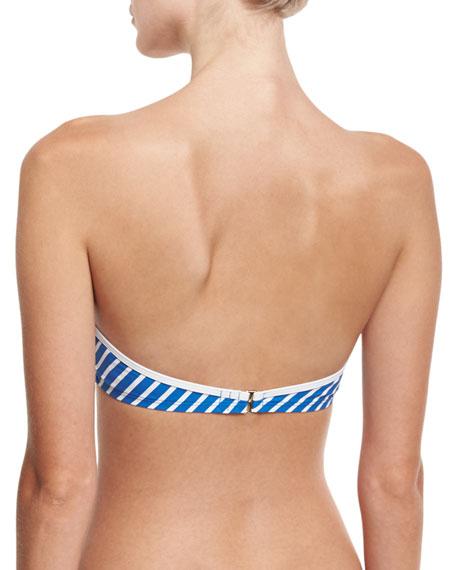 Regatta Underwire Bandeau Swim Top, Blue/White