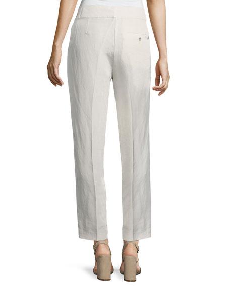 Organic Linen/Silk Slub Ankle Pants