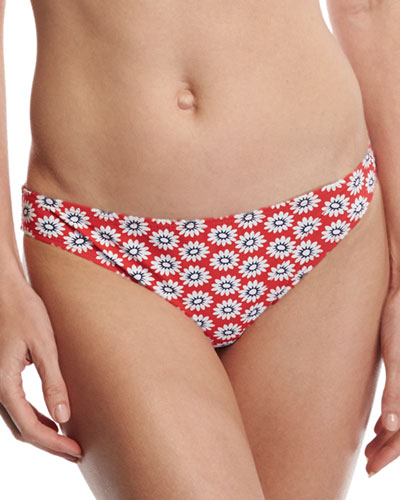 Primrose Hipster Bikini Bottom, Red Pattern