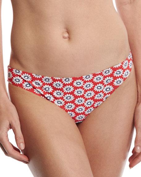 Primrose Hipster Bikini Bottom, Red Pattern