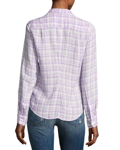 Barry Grid Check Oxford Shirt, Purple