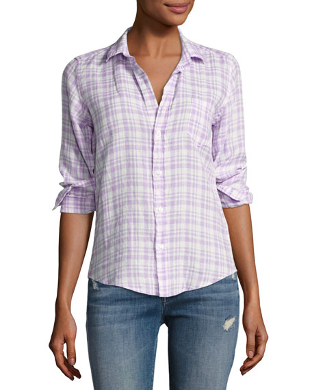 Frank & Eileen Barry Grid Check Oxford Shirt,