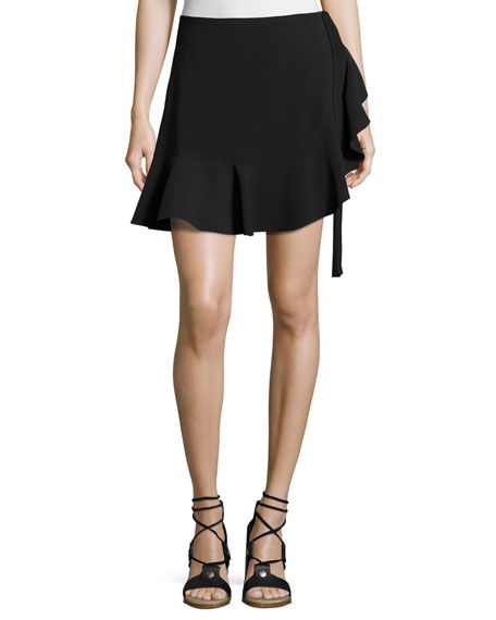 CINQ À SEPT Luella Tie-Side Skort, Black