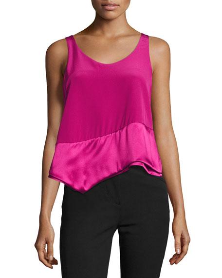 3.1 Phillip Lim Layered Asymmetric Silk Tank, Pink