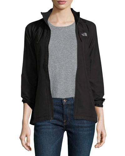 Rapida Quilted Hooded Athletic Jacket, Black