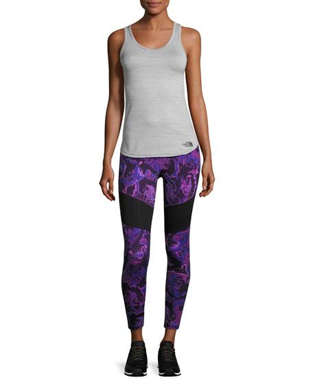 Motivation Mesh Performance Leggings, Wood Violet Roses Print