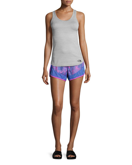 Altertude Hybrid Running Shorts, Blue Pattern