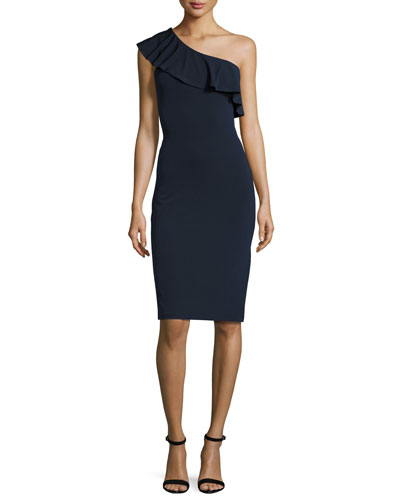 Esperanza Stretch-Jersey Dress, Blue