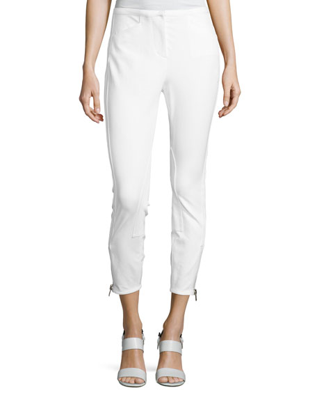 3.1 Phillip Lim Jodhpur Ankle-Zip Leggings, Antique White