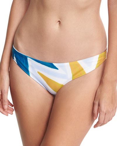 Geo-Print Classic Hipster Swim Bottom, Multicolor