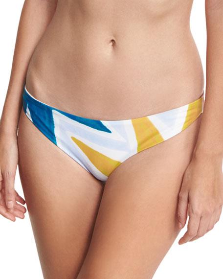 Mara Hoffman Geo-Print Classic Hipster Swim Bottom, Multicolor