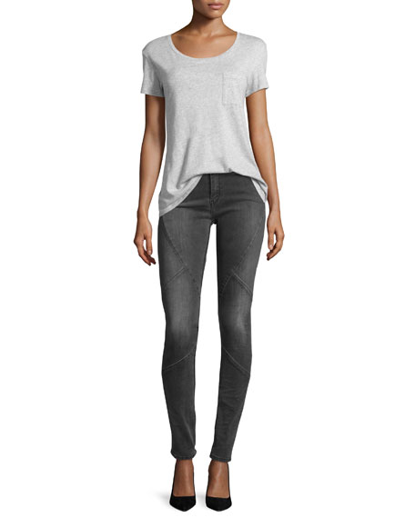 Puzzle Mid-Rise Skinny Jeans, Intemporel