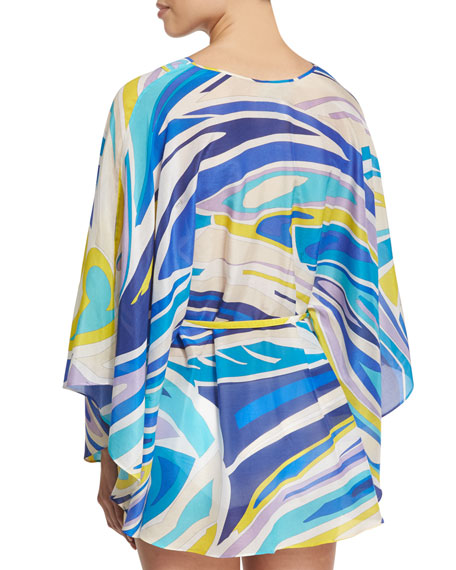 Lance Printed Coverup, Blue