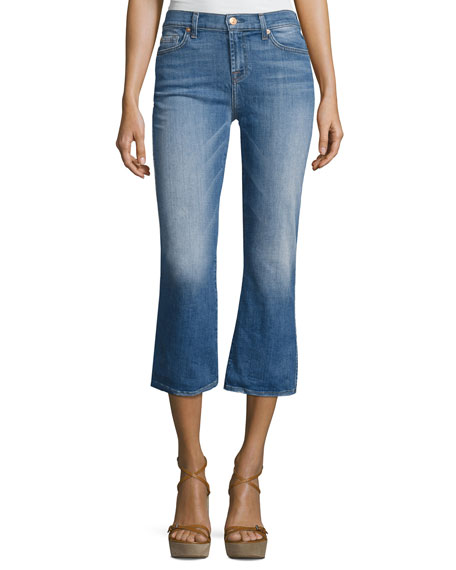 7 For All Mankind Cropped Boot Denim Jeans,