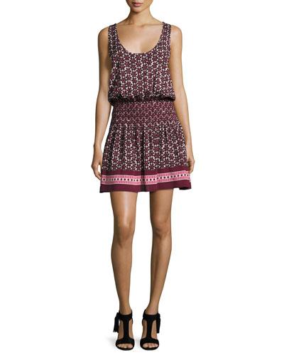 floral-print sleeveless coverup mini dress