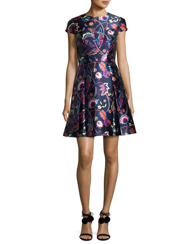 69c3e838e0 Ted Baker London Fluxam Folk Foliage Skater Dress