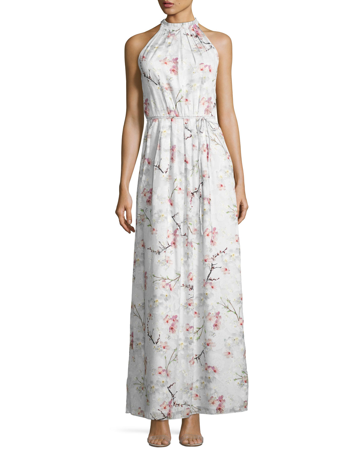eda532bbcecd Ted Baker London Elynor Cherry Blossom Maxi Dress, Light Gray ...