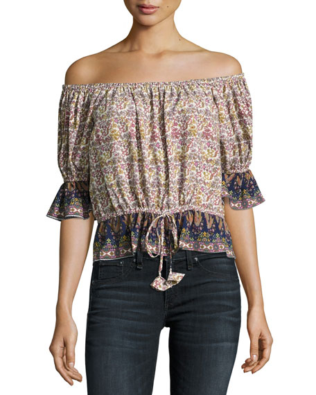 MISA Los Angeles Danya Off-the-Shoulder Printed Top, Multi