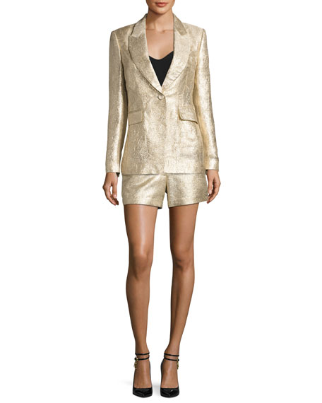 Chou Metallic Shorts, Gold