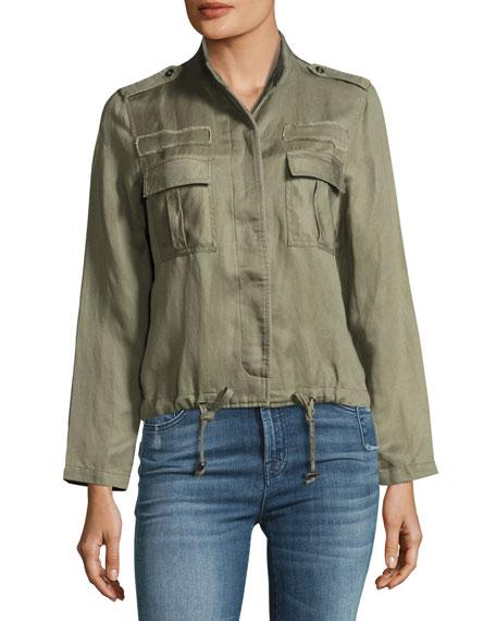 Maverick Twill Military Jacket, Sage