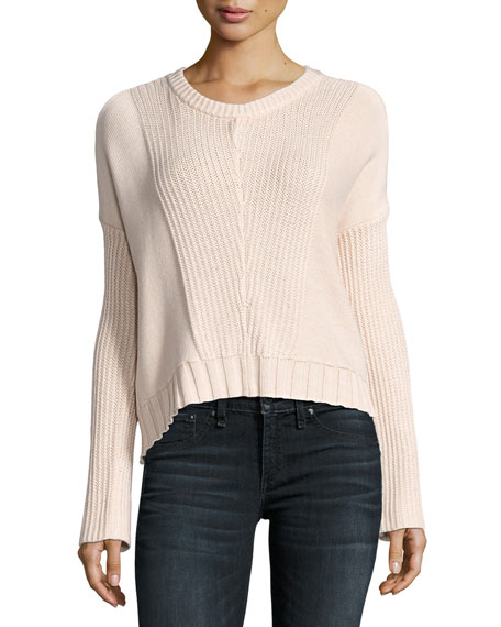 Rails Elsa Long-Sleeve Pullover Sweater, Blush