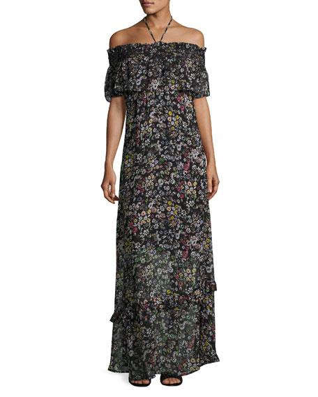Rebecca Minkoff Loma Floral-Print Maxi Dress, Multipattern
