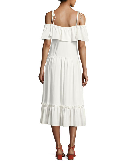 Mojave Cold-Shoulder Maxi Dress, White