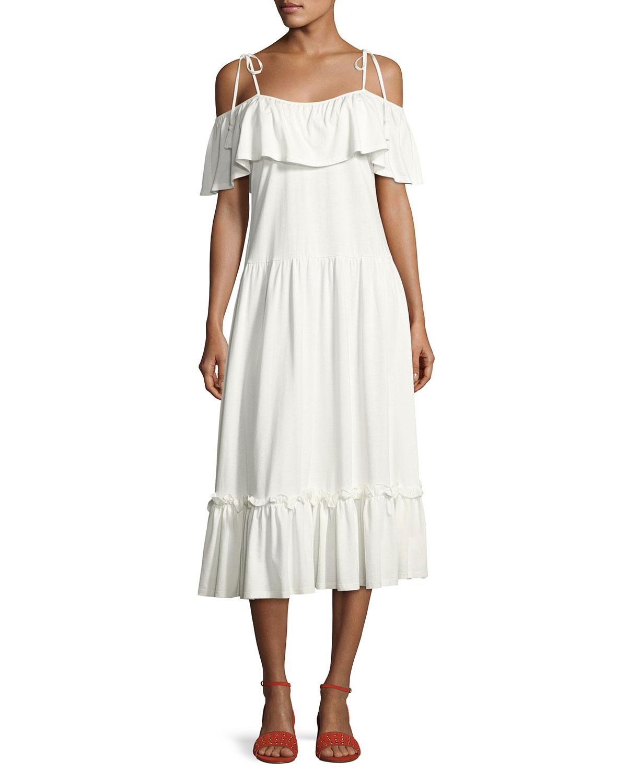 57969be842 Rebecca Minkoff Mojave Cold-Shoulder Maxi Dress