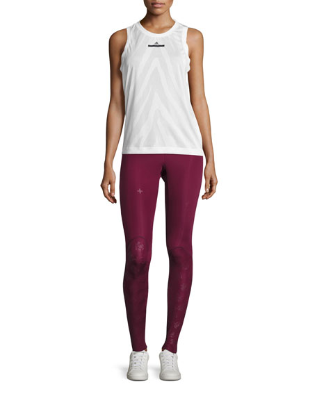 Training Recovery Compression Tights/Leggings, Cherry Wood