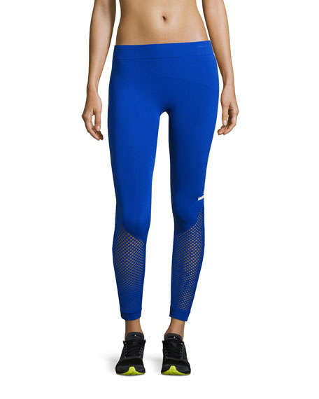 The Seamless Mesh Tights, Bold Blue