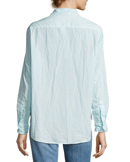 Frank & Eileen Eileen Long-Sleeve Button-Front Shirt, Aqua