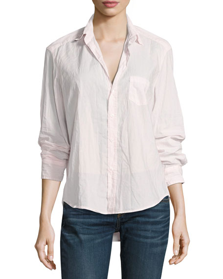 Frank & Eileen Eileen Button-Front Shirt, Light Pink