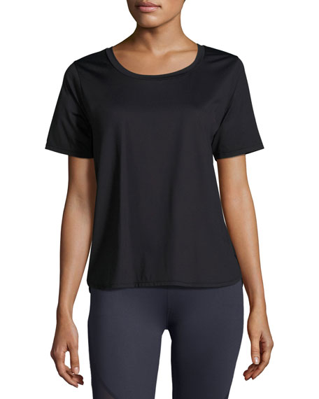 Varley Fairmont Mesh-Back Technical Tee, Black