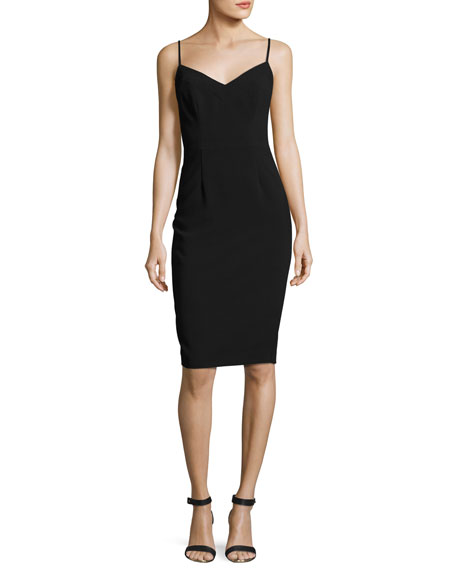 Black Halo Chantal Sleeveless Ponte Sheath Dress, Black