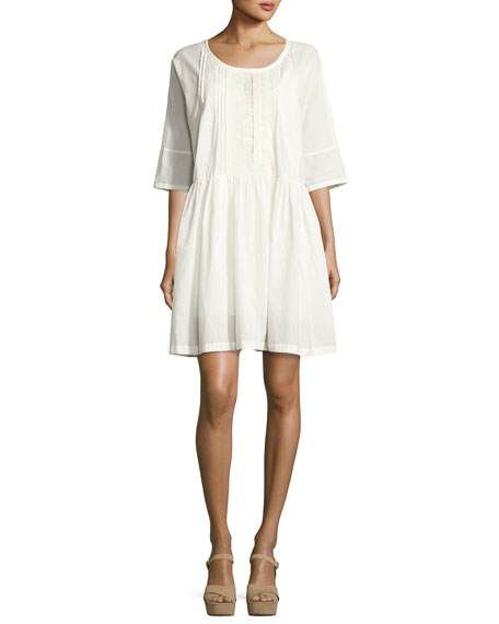 Current/Elliott The Lacey Cotton Dress, White