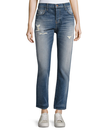 Exclusive Sale Online Current/elliott Woman Two-tone Mid-rise Straight-leg Jeans Mid Denim Size 31 Current Elliott Clearance Free Shipping Pictures Sale Online lU0OnYgH