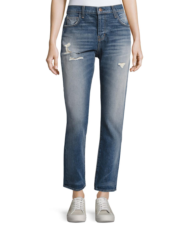 Current/elliott Woman Mid-rise Straight-leg Jeans Mid Denim Size 28 Current Elliott 5C3kn