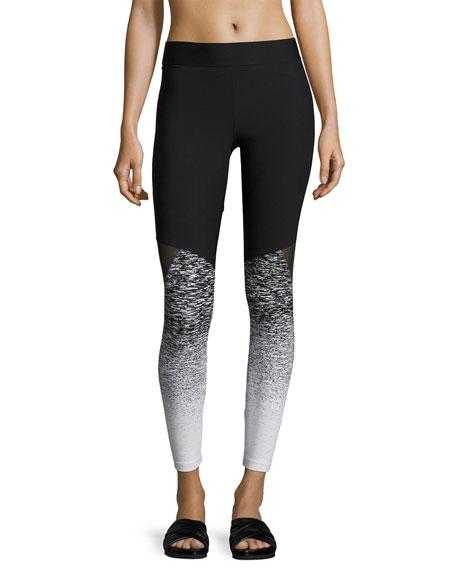 Heroine Sport Tracking Ombre Performance Leggings, Black Pattern