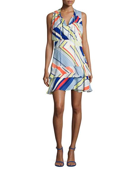 Parker Matilda Striped Sleeveless Dress, Multicolor