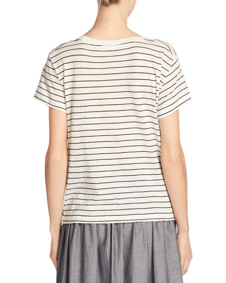 Classic Stripe Relaxed Pima Cotton Tee