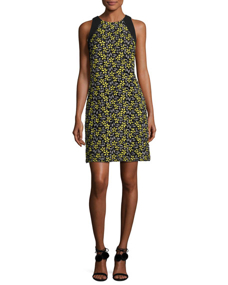 Carmen Marc Valvo Sleeveless Daisy Cocktail Dress,
