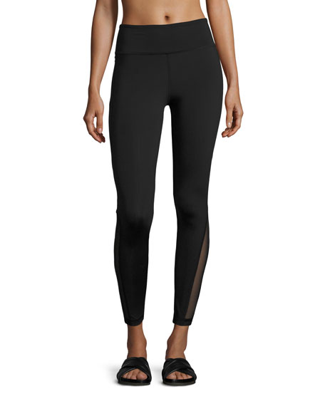 Alala Siren Mesh-Panel Performance Leggings, Black