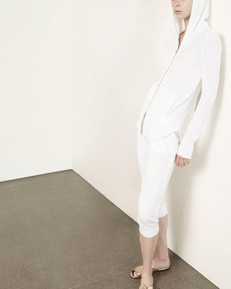 French Terry Capri Sweatpants, White
