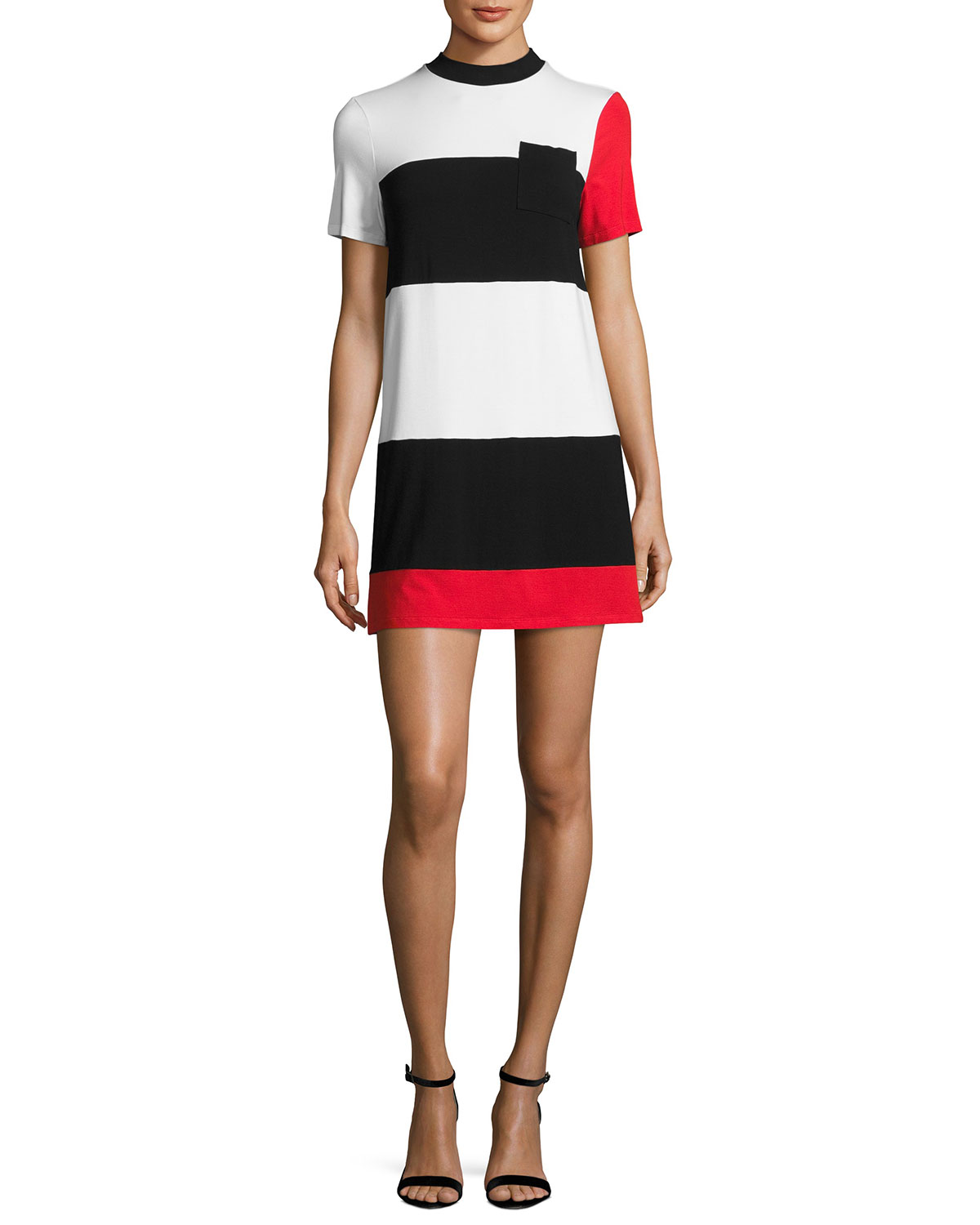 a6d3290f02db18 Kendall + Kylie Geo Striped T-Shirt Dress
