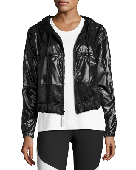 adidas by Stella McCartney Climastorm® Embossed Run Jacket,